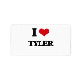 I Love Tyler Address Label