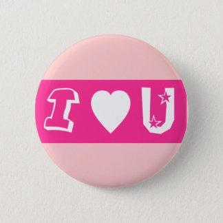 I Love U Button/Badge 2 Inch Round Button