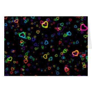 I Love U - Happy Neon Card