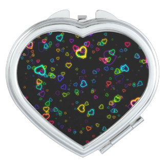 I Love U - Happy Neon Compact Mirror