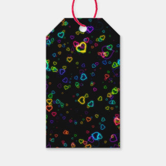 I Love U - Happy Neon Gift Tags