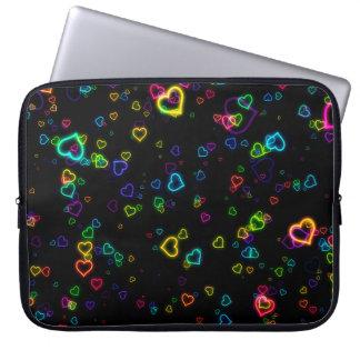 I Love U - Happy Neon Laptop Sleeve