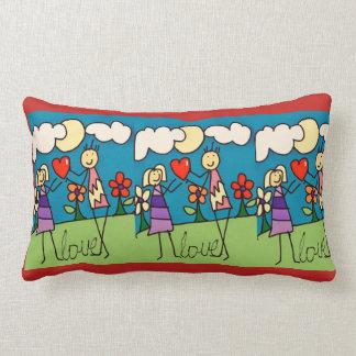 I love u lumbar pillow