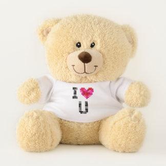 I Love U Tetromino Teddy Bear