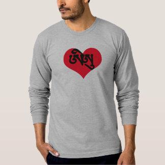 I love U Tibetan Sanskrit Heart T-Shirt