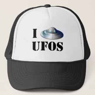 I Love UFOs Hat