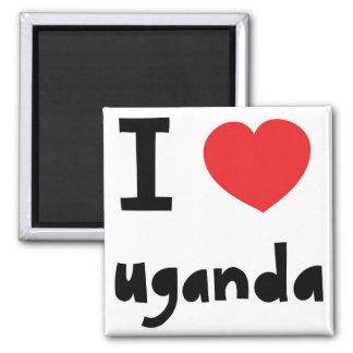 I love Uganda Square Magnet