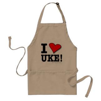 I LOVE UKE Designer Apron