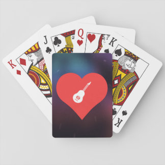 I Love Ukeleles Cool Symbol Playing Cards