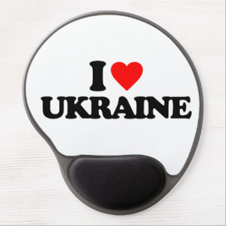 I LOVE UKRAINE GEL MOUSE PAD