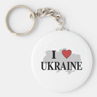 I Love Ukraine Keychain