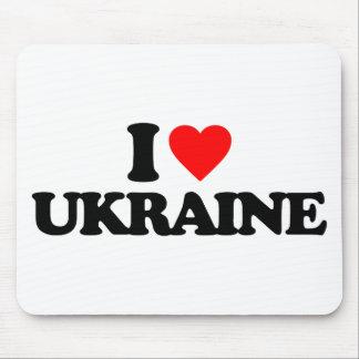 I LOVE UKRAINE MOUSE PADS