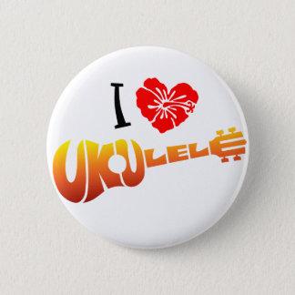 I Love Ukulele 2 Inch Round Button