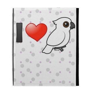 I Love Umbrella Cockatoos iPad Cases