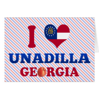 I Love Unadilla, Georgia Card
