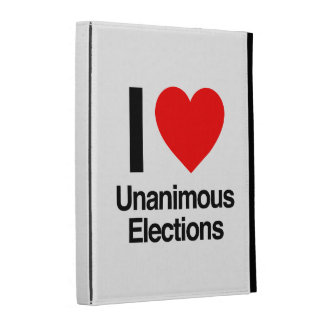 i love unanimous elections iPad cases