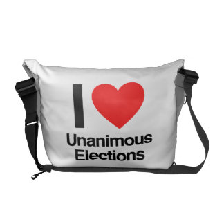 i love unanimous elections messenger bags