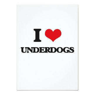 """I love Underdogs 5"""" X 7"""" Invitation Card"""