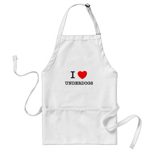 I Love Underdogs Aprons