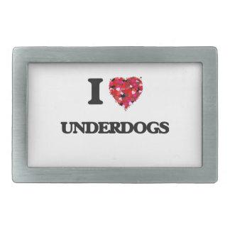 I love Underdogs Rectangular Belt Buckles