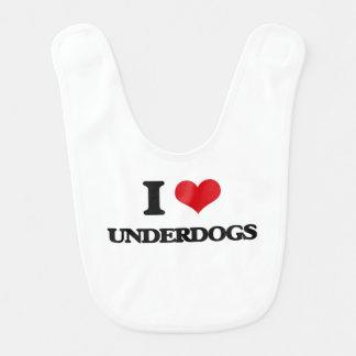 I love Underdogs Bib