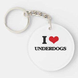 I love Underdogs Single-Sided Round Acrylic Keychain