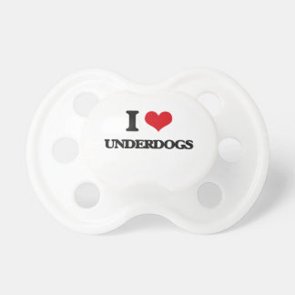 I love Underdogs Baby Pacifiers