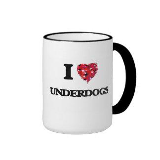 I love Underdogs Ringer Mug