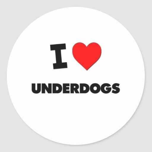 I love Underdogs Stickers