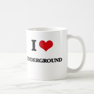 I Love Underground Coffee Mug
