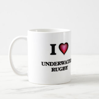 I Love Underwater Rugby Coffee Mug