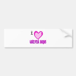 I LOVE Uneven Bars Bumper Sticker