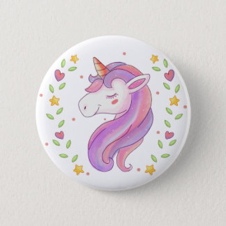I Love Unicorns 2 Inch Round Button