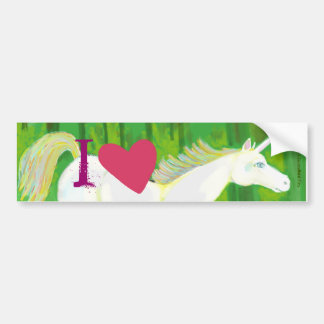 I Love Unicorns Bumper Sticker