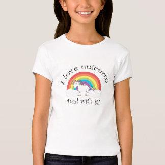 I love unicorns Deal with it! T-Shirt