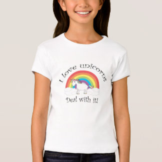 I love unicorns Deal with it! Tee Shirts