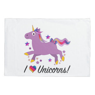 I Love Unicorns Pillowcase