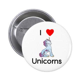 I Love Unicorns sitting Pin
