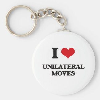 I Love Unilateral Moves Keychain