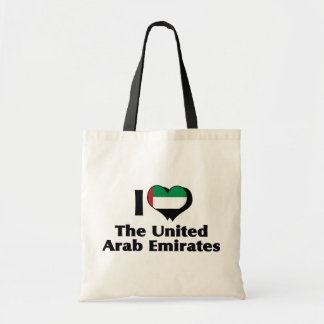I Love United Arab Emirates Flag Tote Bag
