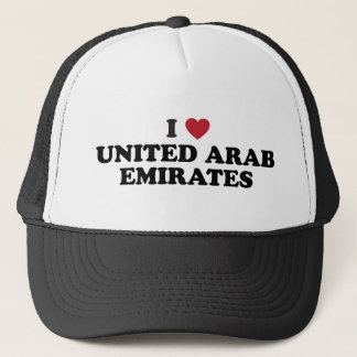 I Love united arab emirates Trucker Hat