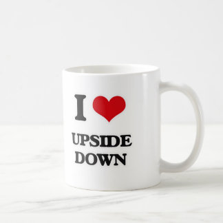 I Love Upside Down Coffee Mug