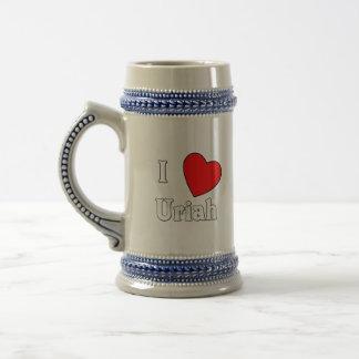 I Love Uriah 18 Oz Beer Stein