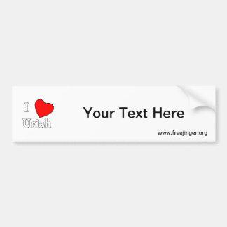 I Love Uriah Car Bumper Sticker