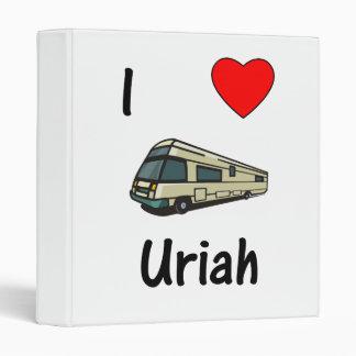 I Love Uriah (pic) 3 Ring Binder