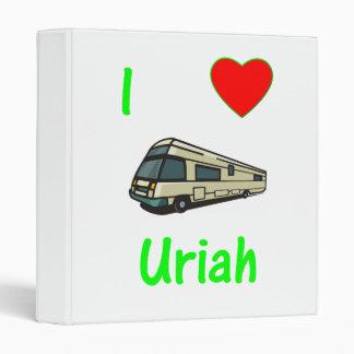 I Love Uriah (pic) 3 Ring Binders