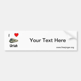 I Love Uriah (pic) Car Bumper Sticker
