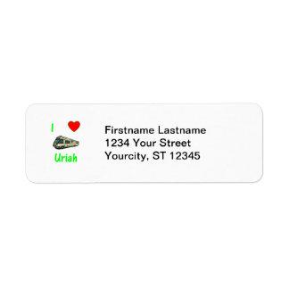 I Love Uriah (pic) Custom Return Address Labels