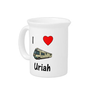 I Love Uriah (pic) Drink Pitcher