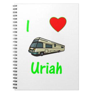 I Love Uriah pic Note Book
